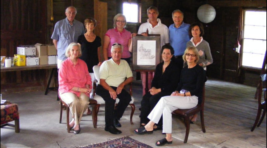 Organizing committee for the Kickoff Reception with Ruth Abernethy at the Red Barns