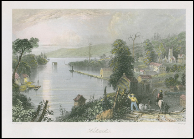 W.H. Bartlett Illustration of the Bay of Quinte -- Hallowell/Picton 1838
