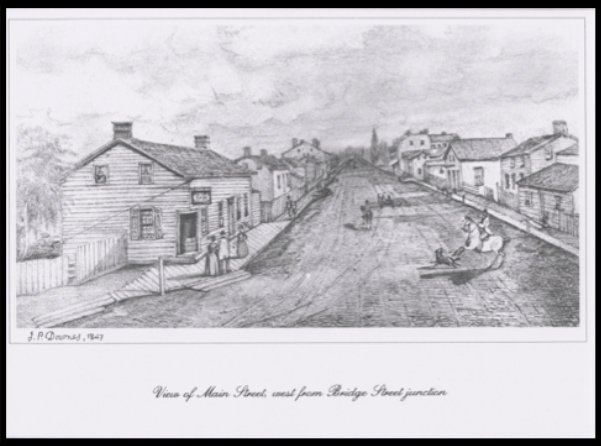 View of Picton's Main Street by J. P. Downes 1847