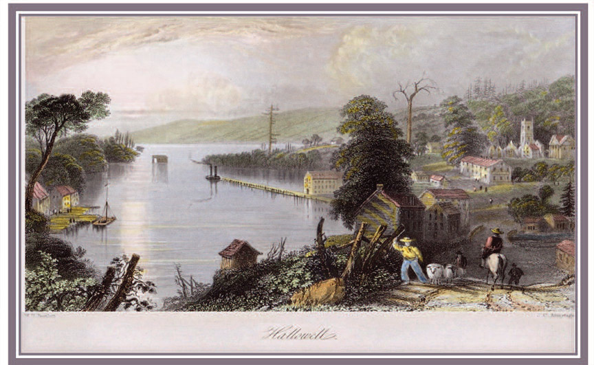 Hallowell byW.H. Bartlett drawing in 1838 on travels through Upper Canada and published in 1842 in Canadian Scenery